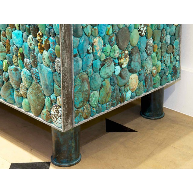 Kam Tin - Sideboard Covered With Real Turquoise Cabochons, France, 2013 For Sale - Image 6 of 10