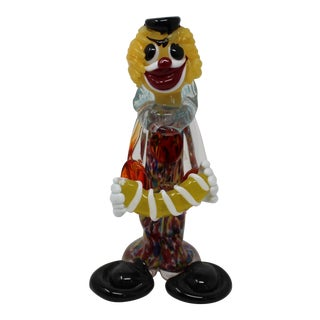 Vintage Murano Glass Clown For Sale