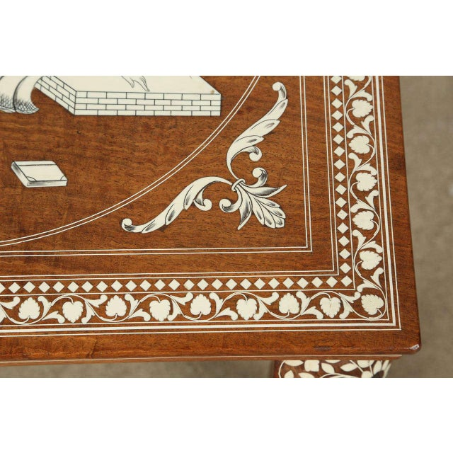 Anglo Indian Inlaid Square Side Table For Sale - Image 4 of 10