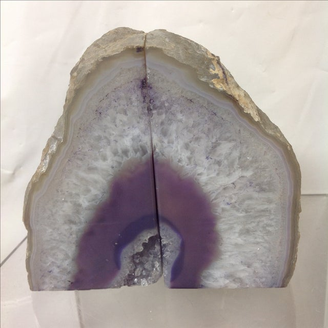 Large Lavender Geodes - A Pair - Image 2 of 5