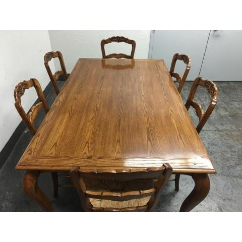Fremarc Designs Chateau Draw Top Dining Set - Image 8 of 11