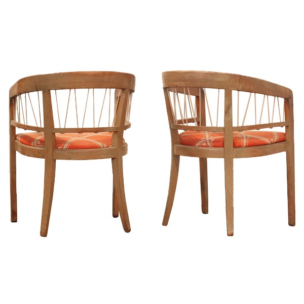 Edward Wormley 1940s Drexel Side Chairs – Pair - Image 2 of 6