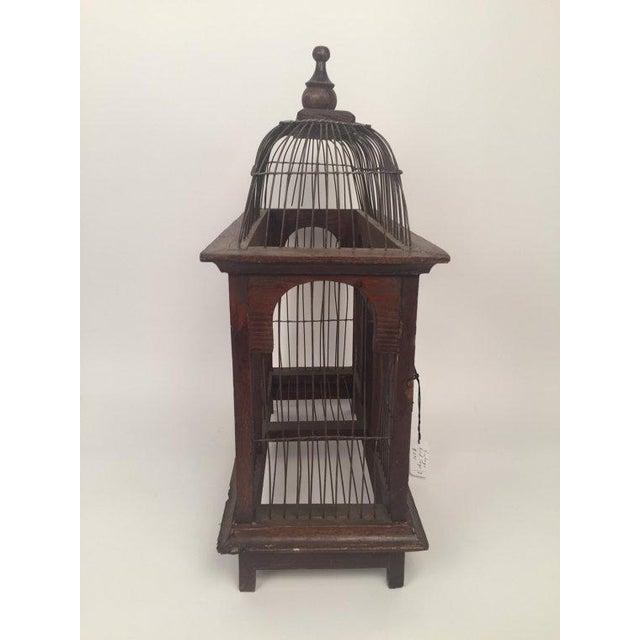 1940s Antique Wood & Metal Bird Cage - Image 3 of 6