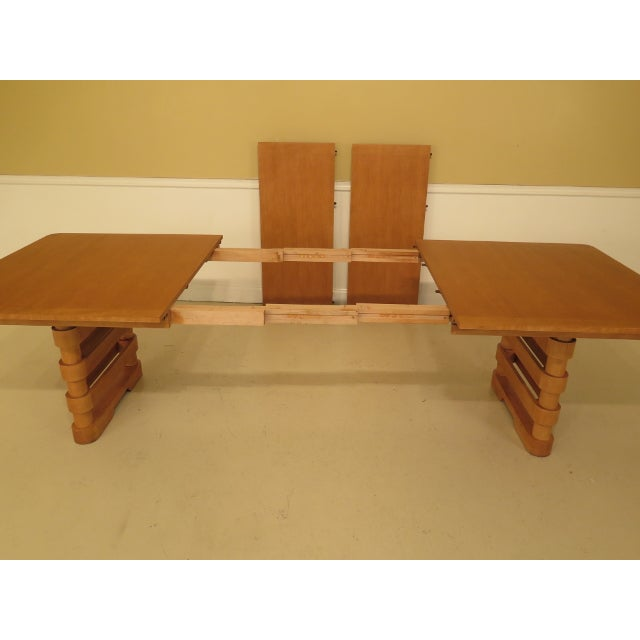 Baker Modern Design Satinwood Mahogany Dining Room Table For Sale - Image 9 of 13