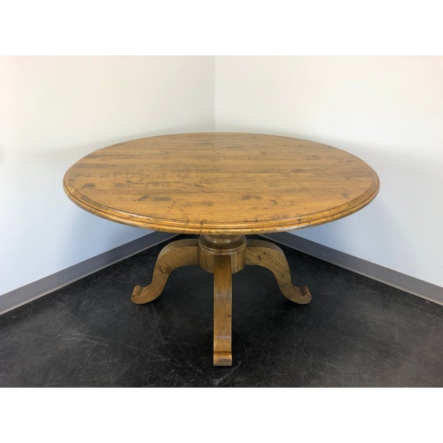 """Palacek 52"""" Round Transitional Cottage Style Pedestal Dining Table For Sale - Image 11 of 11"""