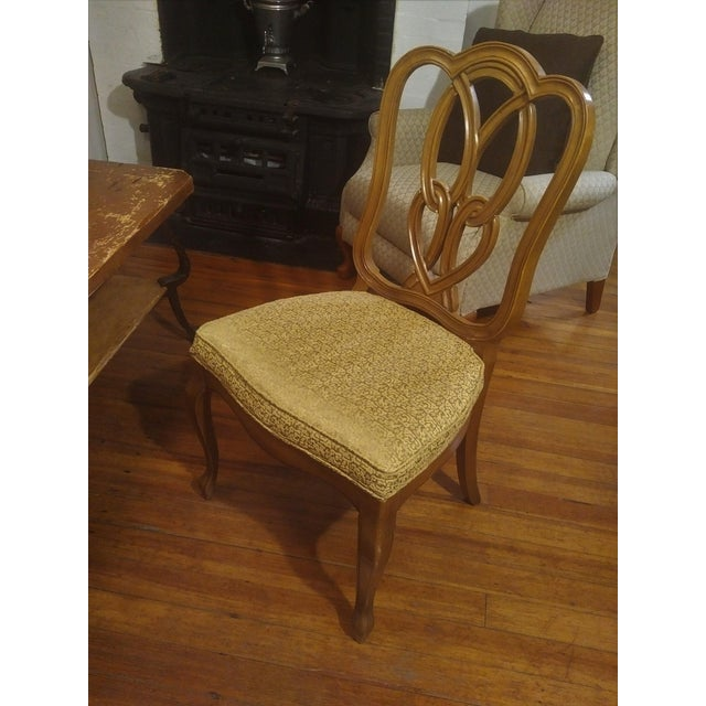 1960s French Country Gold Maple Side Chair For Sale - Image 9 of 9