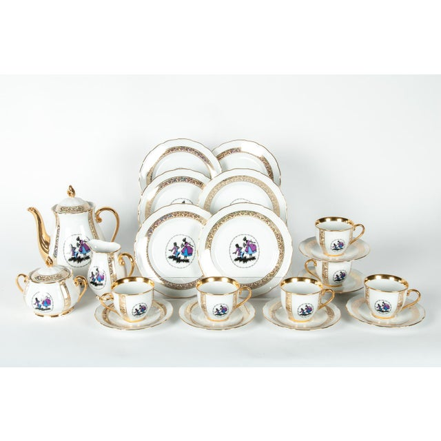 Tea or Coffee Luncheon Service for 6 People - Set of 21 For Sale In New York - Image 6 of 6