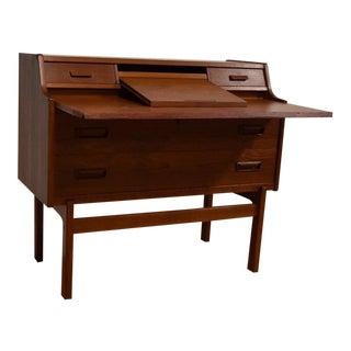 Arne Wahl Iversen Compact Danish Teak Desk
