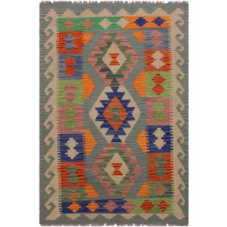 """Kilim Allie Hand-Woven Wool Rug -2'9"""" X 4'4"""" For Sale"""