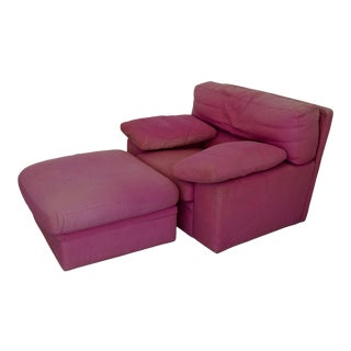 Postmodern Roche Bobois Italian Lounge Chair For Sale