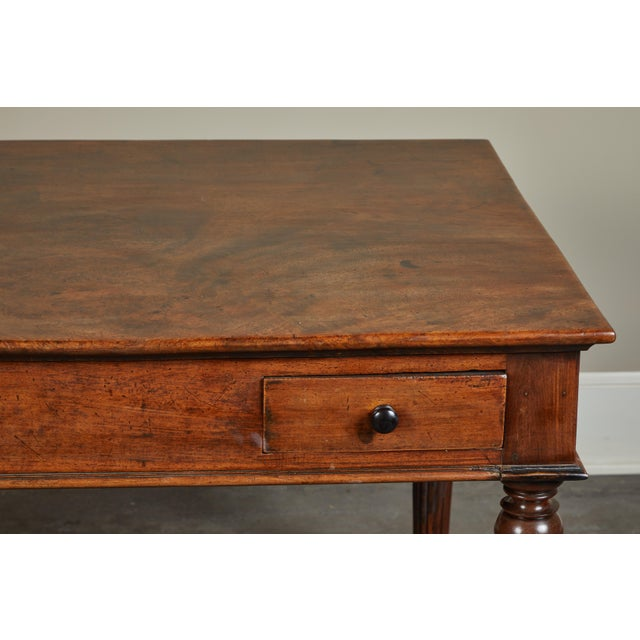 Brown French Colonial Single-Piece Rosewood Top Desk For Sale - Image 8 of 13
