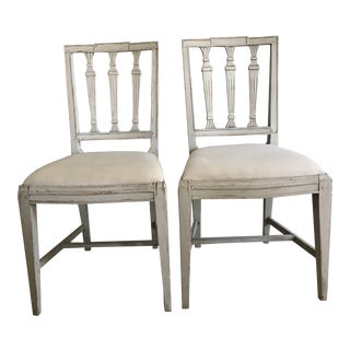 19th Century Swedish Chairs- A Pair For Sale