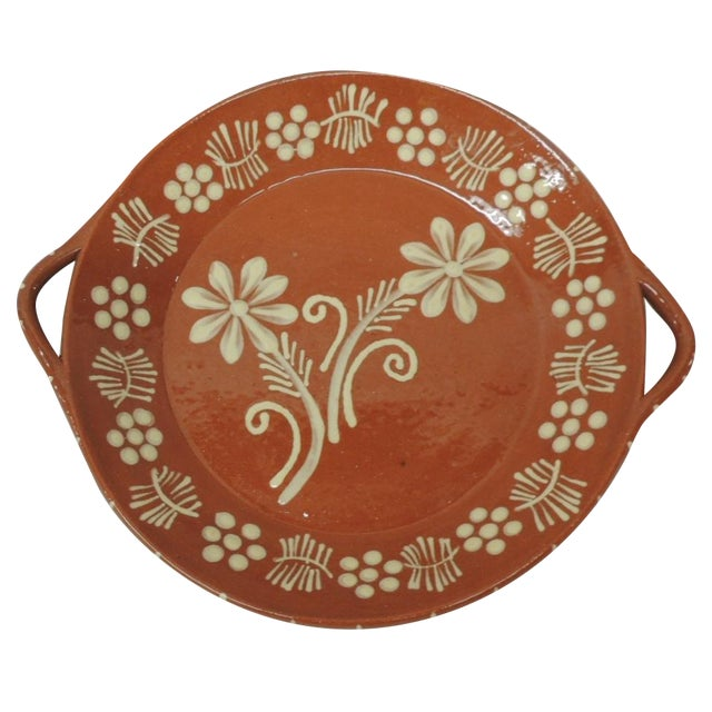 Vintage Portuguese Terracotta Serving Platter - Image 1 of 4