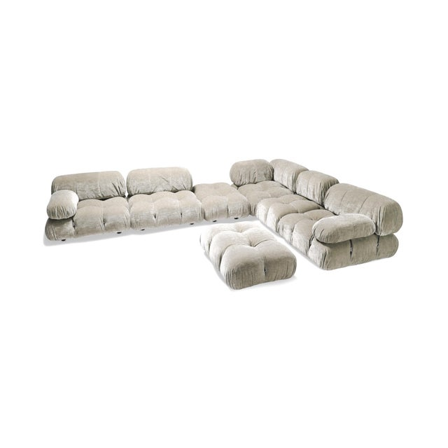 1970s Velvet Sectional Sofa Model 'Camaleonda' by Mario Bellini For Sale - Image 5 of 5