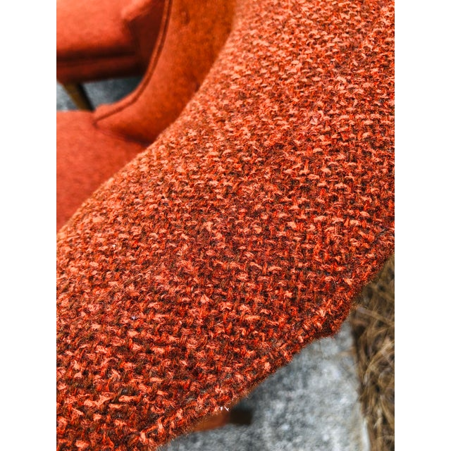 Mid-Century Modern Burnt Orange Chairs - a Pair For Sale In Charleston - Image 6 of 13