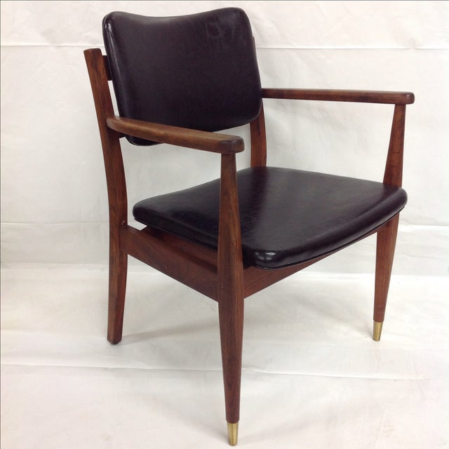 Danish Modern Oiled Walnut Executive Chair - Image 3 of 5
