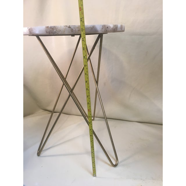 Agate Table Top W/ Hairpin Legs For Sale In Sacramento - Image 6 of 8