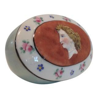 Late 19th Century Paris Porcelain Match Box For Sale