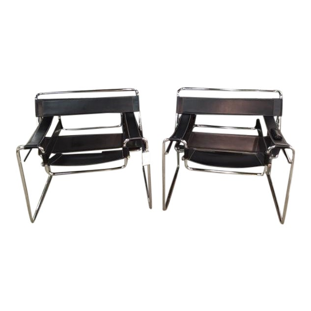 Pair Marcel Breuer Wassily Chairs For Sale