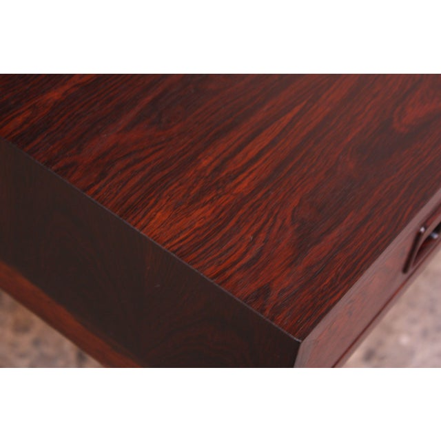 Brown Diminutive Danish Modern Rosewood Desk by EJM Skive For Sale - Image 8 of 12