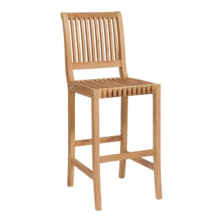 Palm Teak Outdoor Bar Chair For Sale