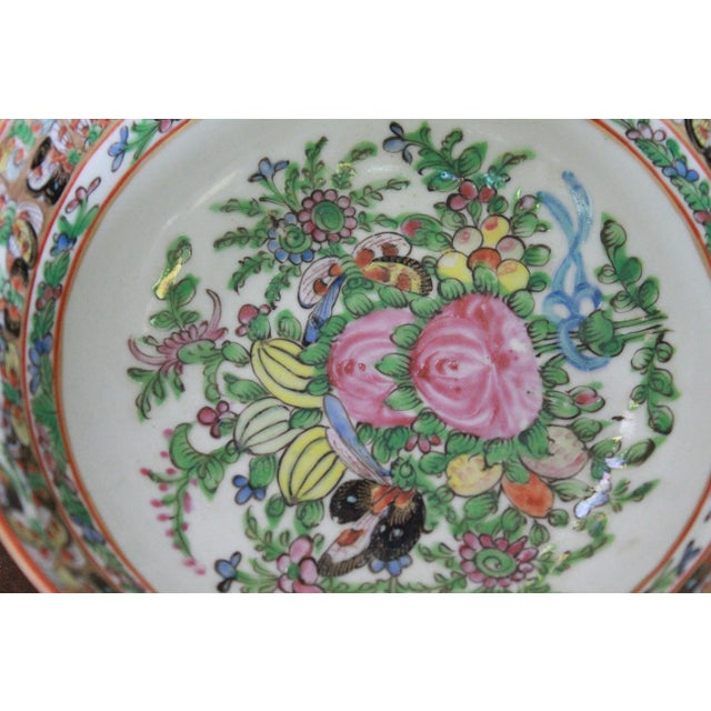 Green Vintage Chinese Famille Bowl For Sale - Image 8 of 9