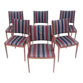 Mid-Century Teak Dining Chairs by Johannes Andersen- Set of Six For Sale