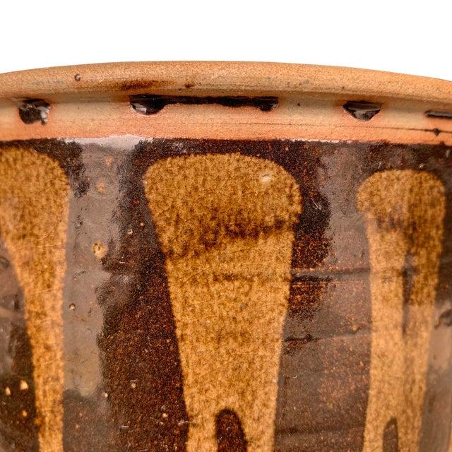 Coffee Vintage Studio Pottery Lidded Jar For Sale - Image 8 of 13