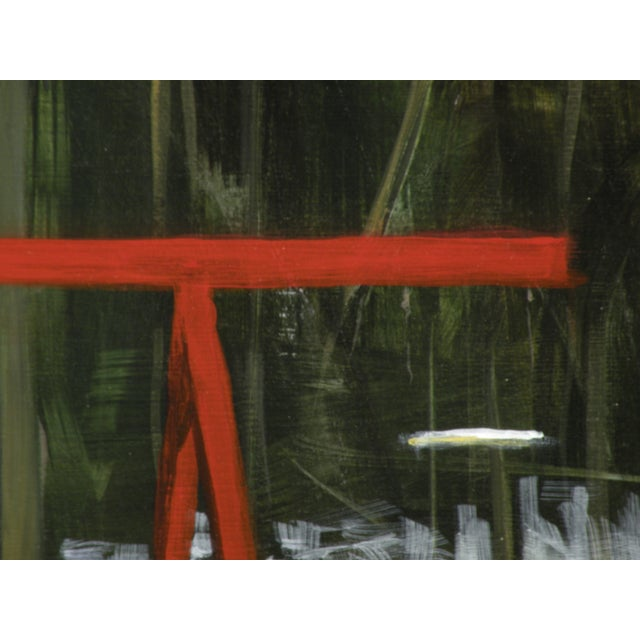 Landscape Painting Children's Swingset in Snow - Image 4 of 5