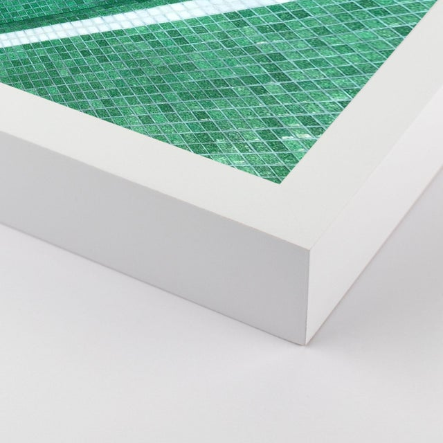 Pool by Christine Flynn in White Framed Paper, Small Art Print Overall Size: 18x24. Image Size: 17x23. Orientation:...