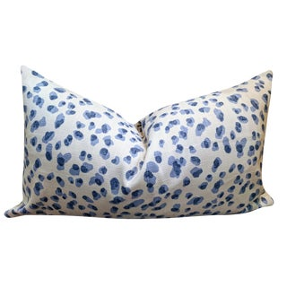 Rack Leopard Blue Ballard Design Mira Blue Pillow