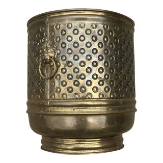 Decorative Brass Planter Pot Made in England For Sale