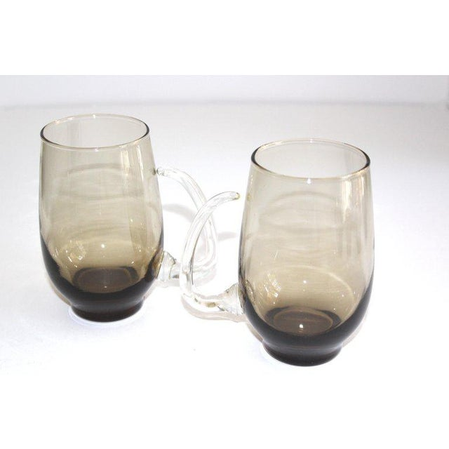 Set of Six Mid-Century Modern Tinted Glass Mugs by Libbey Glass Co. For Sale In New York - Image 6 of 13