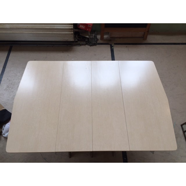 Mid Century Blonde Dining Table - Image 3 of 6