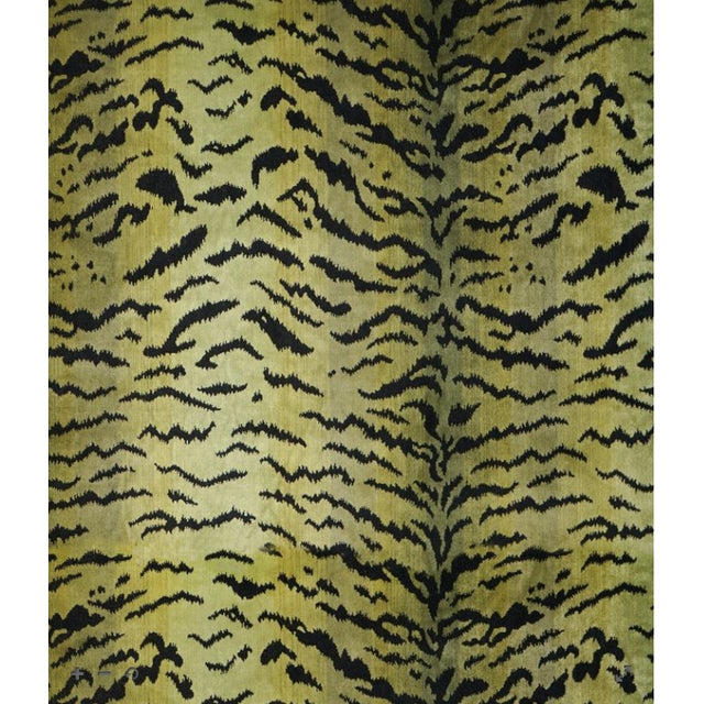 Contemporary Scalamandre Tigre, Greens & Black Fabric For Sale - Image 3 of 3