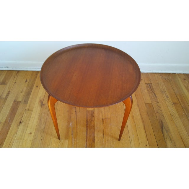 Teak Fritz Hansen Teak Tray Table For Sale - Image 7 of 11