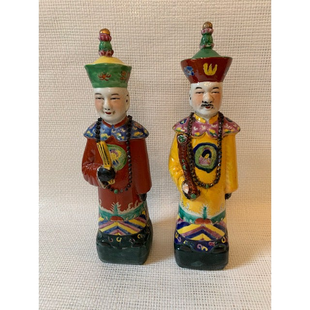 Asian Vintage Chinese Figurines - a Pair For Sale - Image 3 of 8