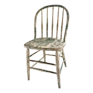 Late 19th Century Antique Painted Windsor Chair For Sale