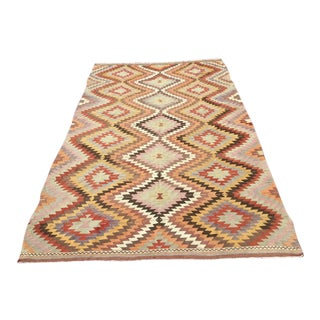 Bohemian Turkish Vintage Kilim Rug- 6′2″ × 9′8″ For Sale