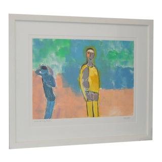 "Arthur J. Krakower ""Jack at Long Beach"" Monoprint c.2003 For Sale"