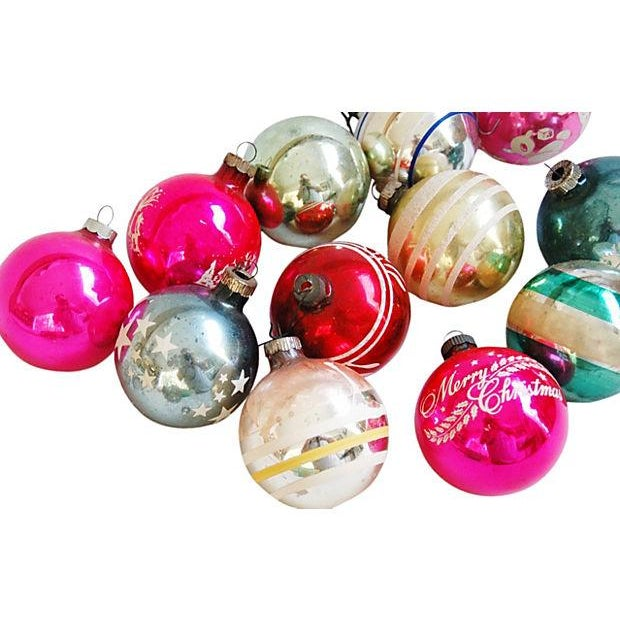 Mid-Century Fancy Holiday Ornaments - Set of 12 - Image 3 of 5