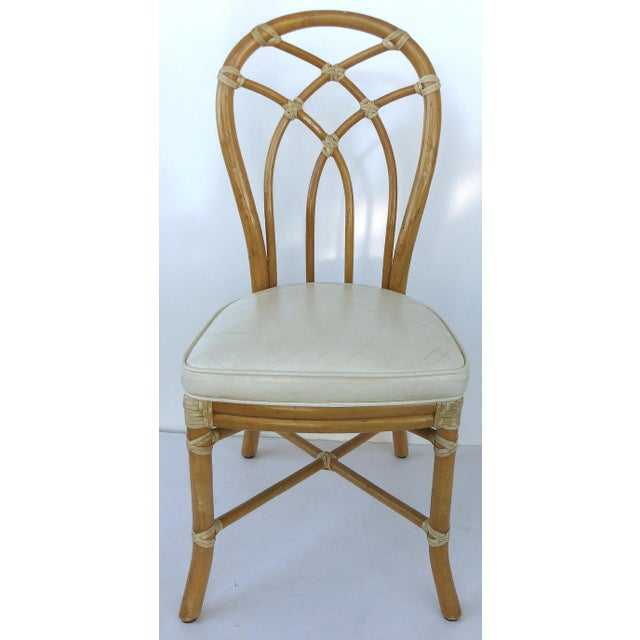 McGuire Rattan Dining Chairs - Set of 6 - Image 6 of 10