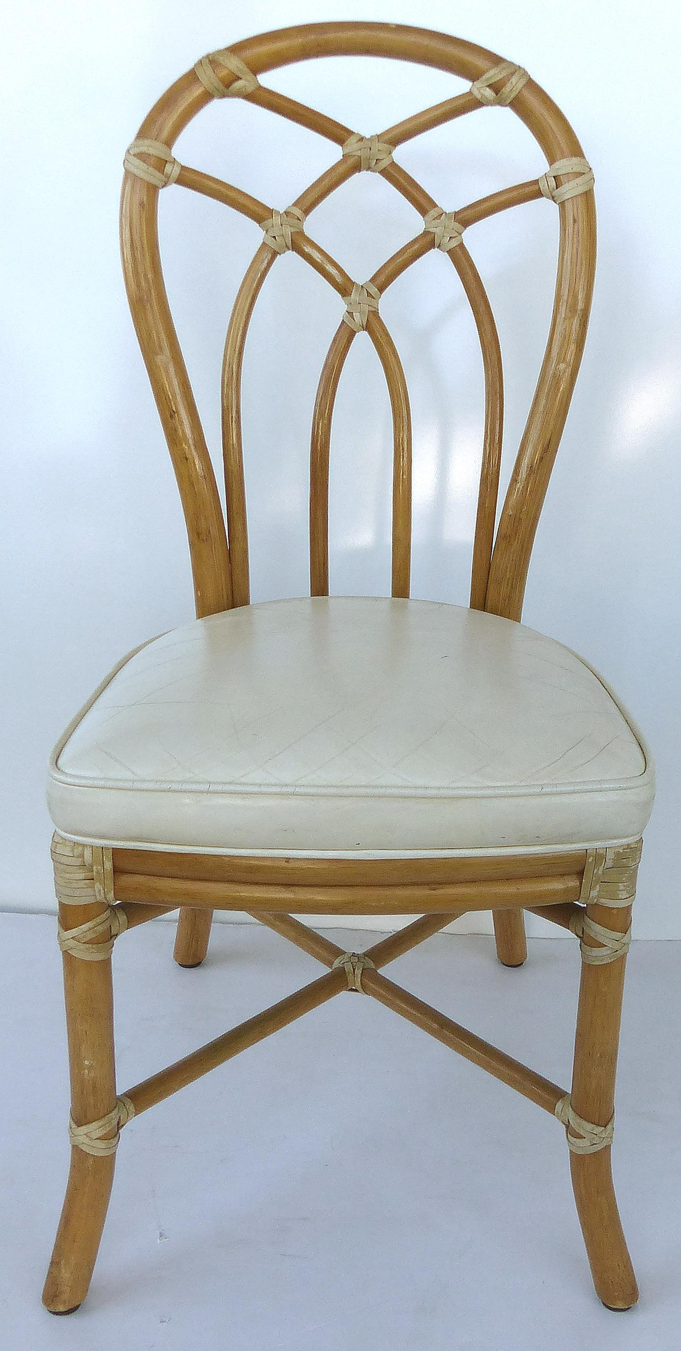 Attirant McGuire Rattan Dining Chairs   Set Of 6 For Sale In Miami   Image 6 Of