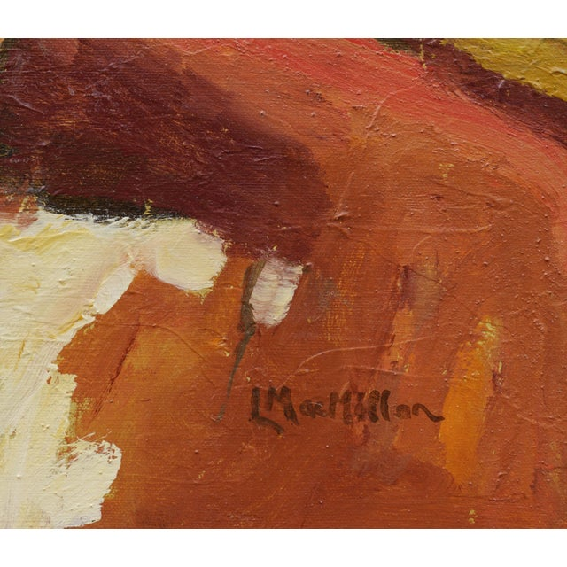 """2010s Laurie MacMillan """"Silence"""" Abstract Landscape For Sale - Image 5 of 6"""