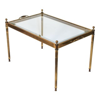 Petite Brass & Glass Coffee Table or Side Table