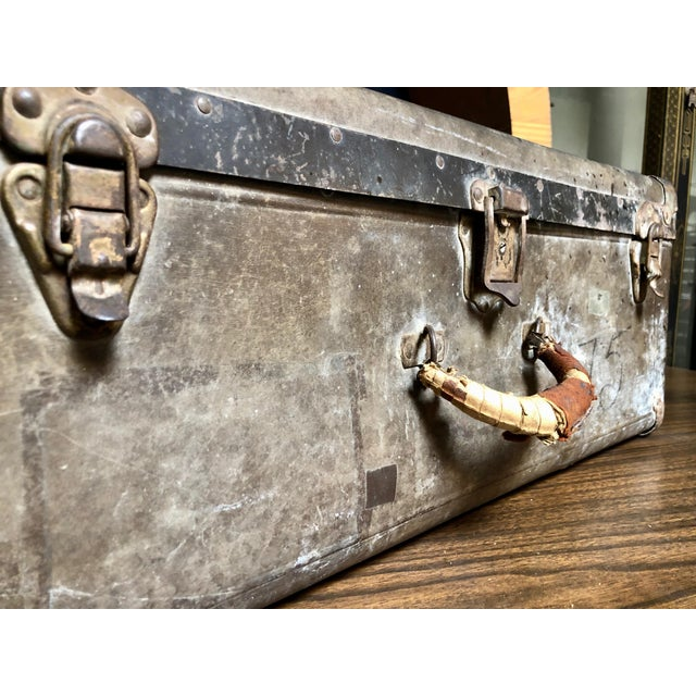Boho Chic Vintage Well-Worn Wearever Salesman Sample Suitcase For Sale - Image 3 of 11