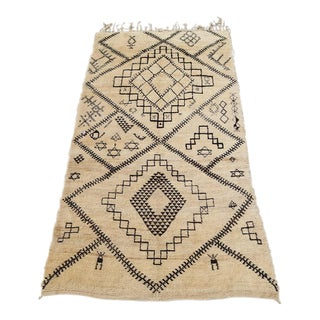 "Vintage Moroccan Berber Rug - 5'8""x10'9"" For Sale"