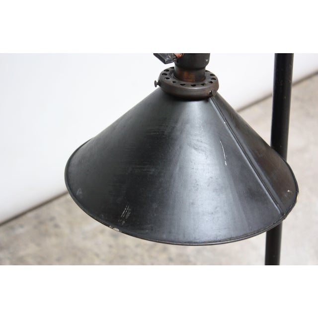 Vintage Industrial Articulating Floor Lamp by o.c. White For Sale - Image 10 of 13