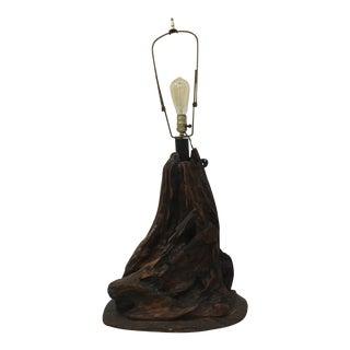 Vintage Driftwood Lamp For Sale