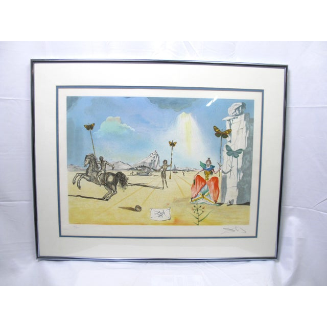 "Vintage Salvador Dali Print ""Homage to Papillon"" For Sale - Image 9 of 9"